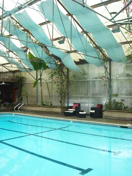 The solarium, heated pool and Jacuzzi are a relaxing attraction at the Stanford Inn.