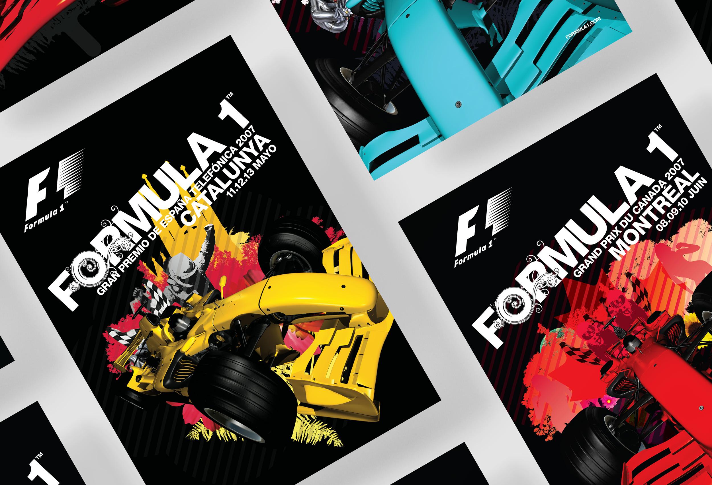 Formula 1 - Design, Illustration & Art Direction