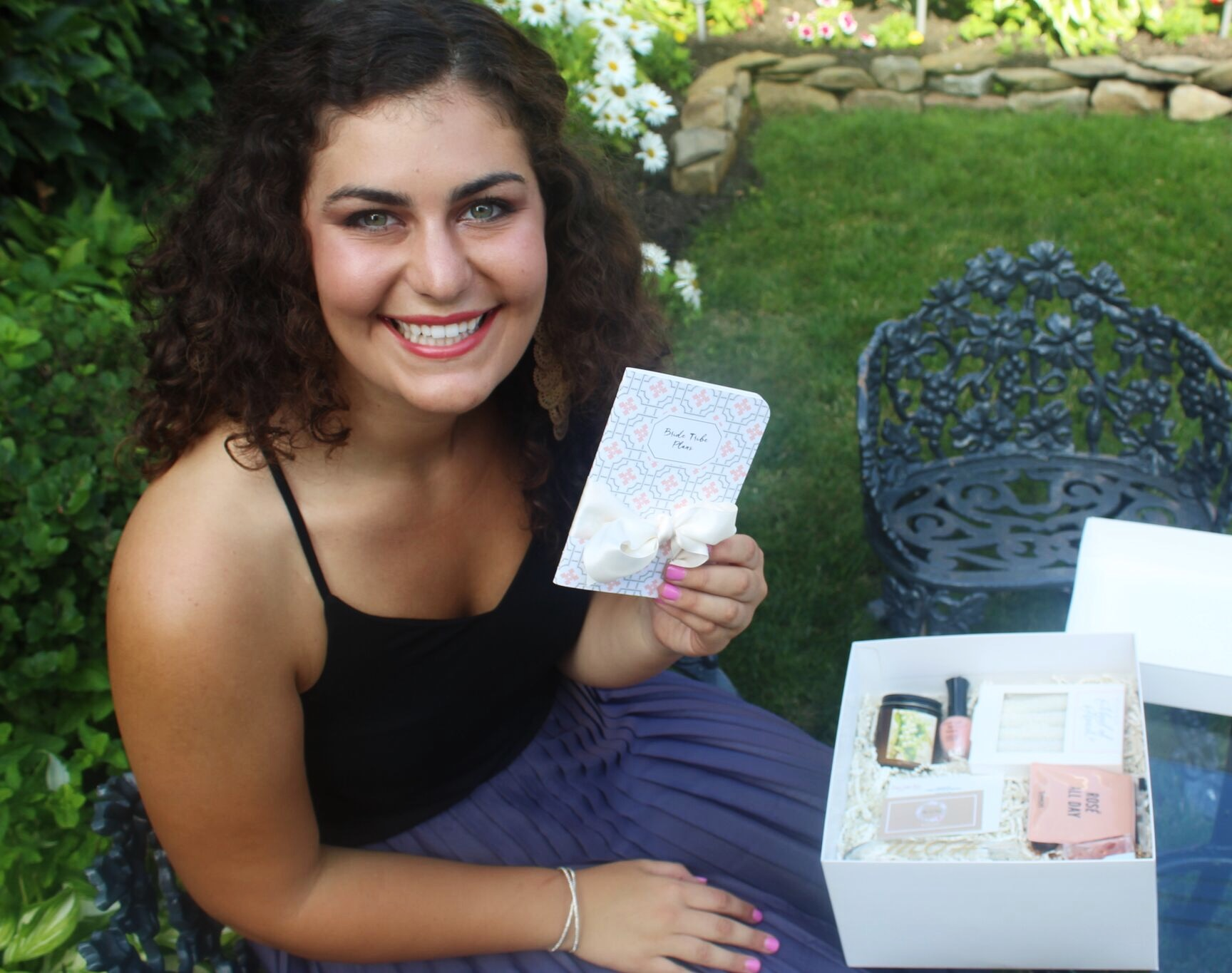 My sister getting her Bridezilla Bribe box!