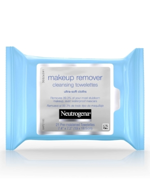 What it is:  A  gentle, ultra soft makeup remover wipe that effectively dissolves 99.3% of your most stubborn makeup, even waterproof mascara - for clean, fresh looking skin in just one simple step.It leaves skin thoroughly clean with no heavy residue, so there's no need to rinse! Plus they're gentle enough to use around the sensitive eye area, even if you wear contacts.
