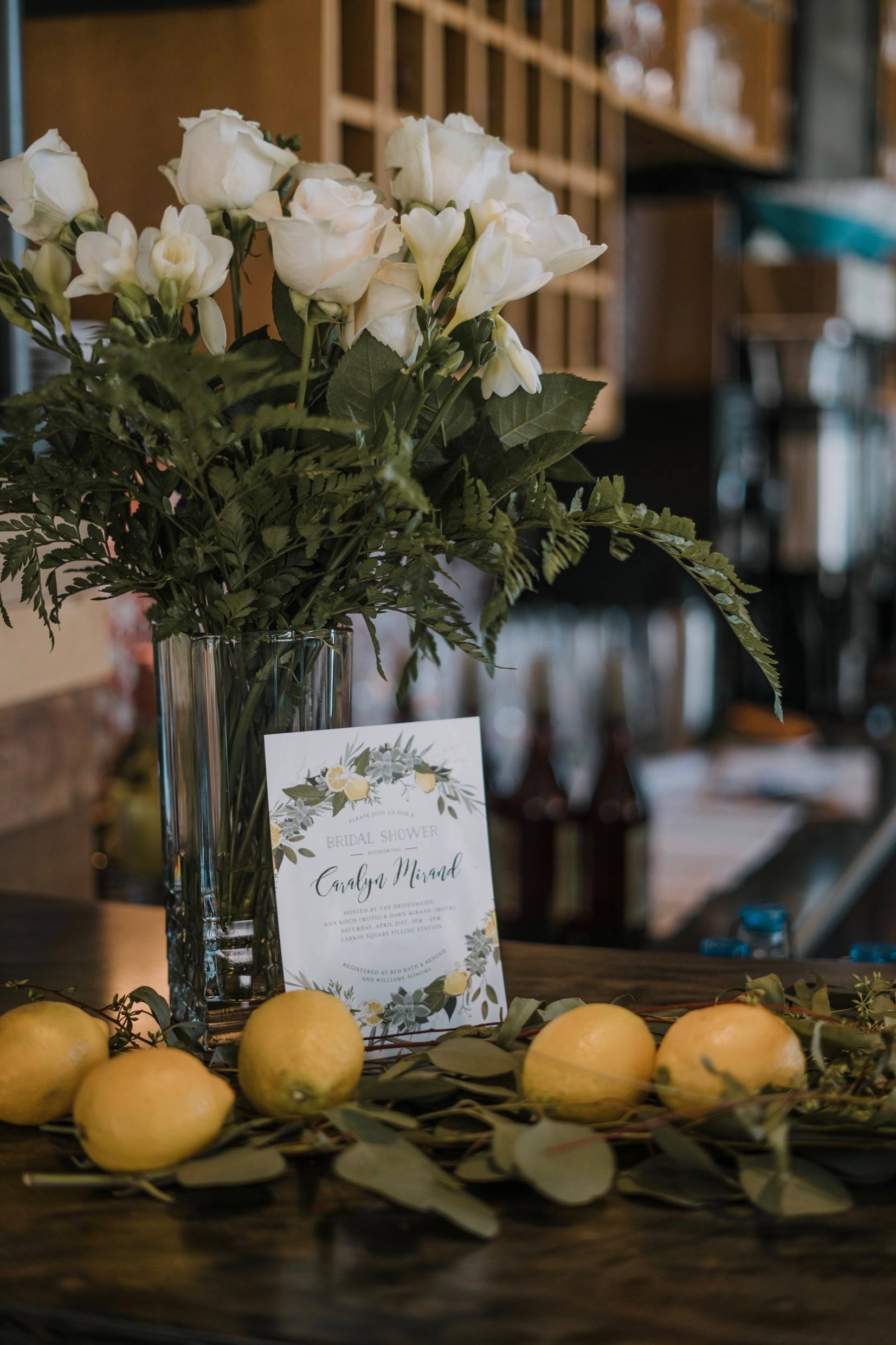 FLORALS PROVIDED BY  THE BOUQS CO.   INVITATIONS PROVIDED THROUGH MINTED