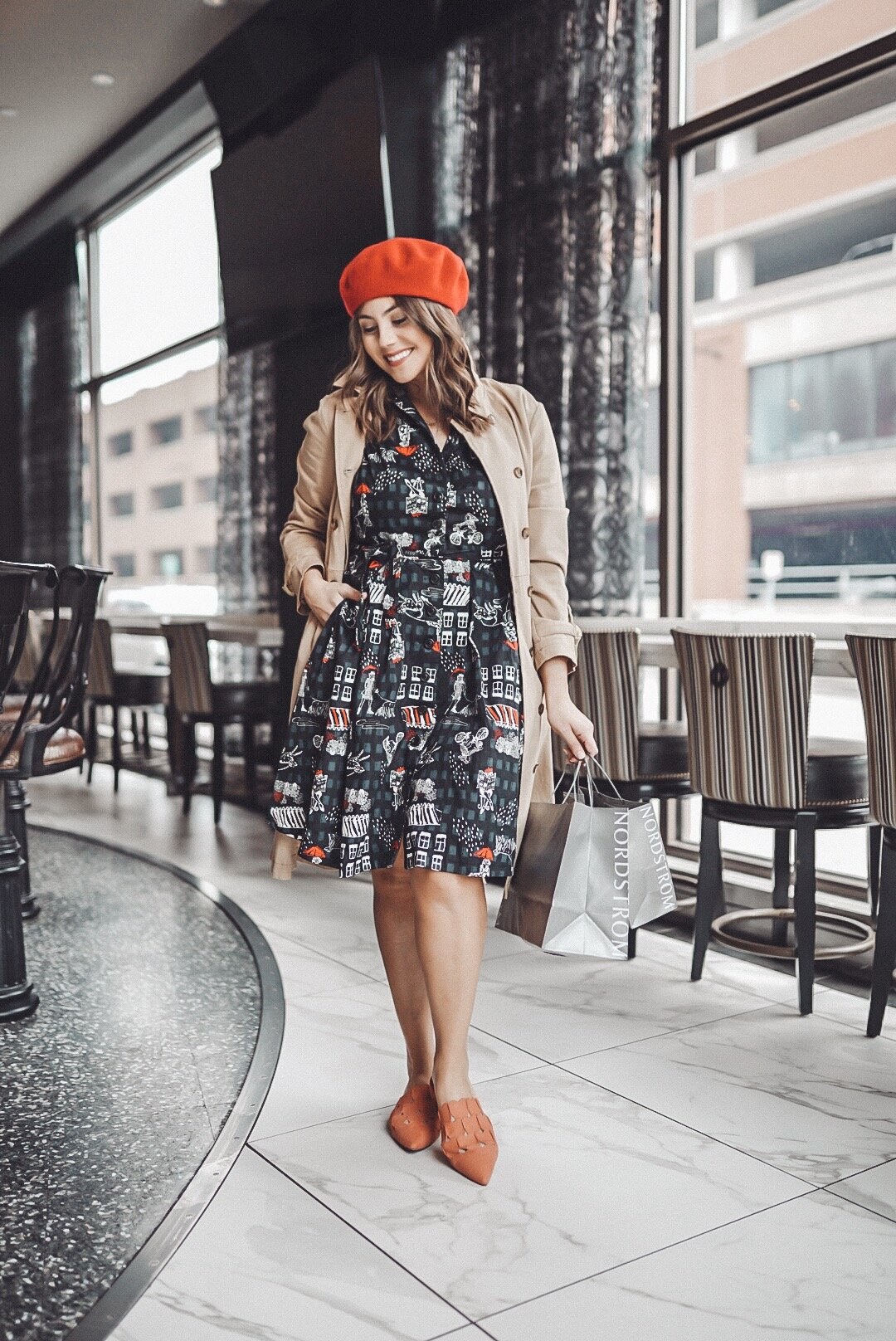 Buffalo winters call for shooting indoors, this was taken inside the Curtiss Hotel bar Outfit is sold out   ModCloth for Nordstrom