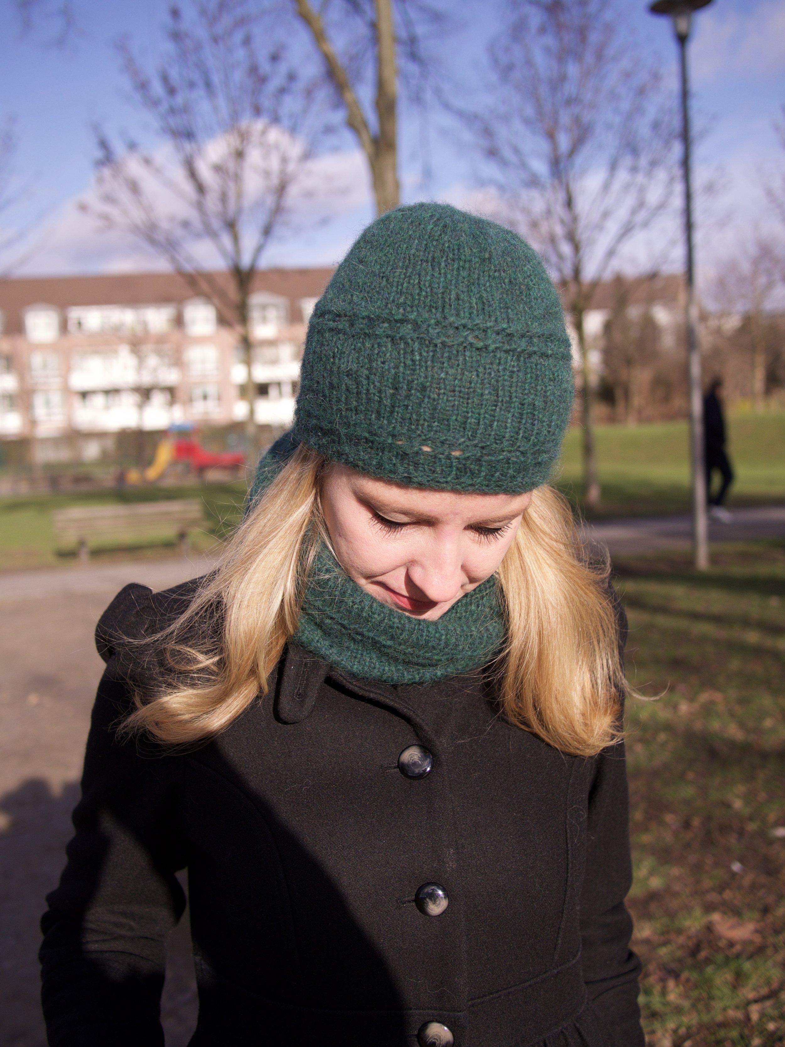 Drops-Design Mütze und Schal, Wolle, 12colursofhandemadefashion, grün, stricken