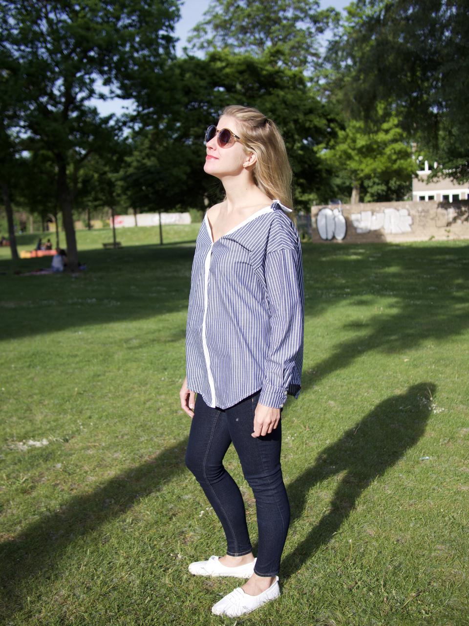 Off-Shoulder-Bluse Fashionmakery nähen