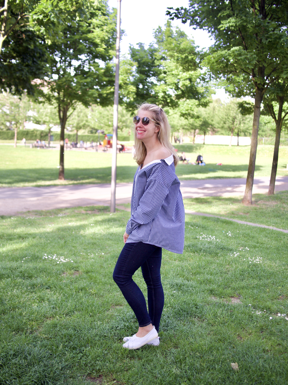 Off-Shoulder-Bluse Fashionmakery