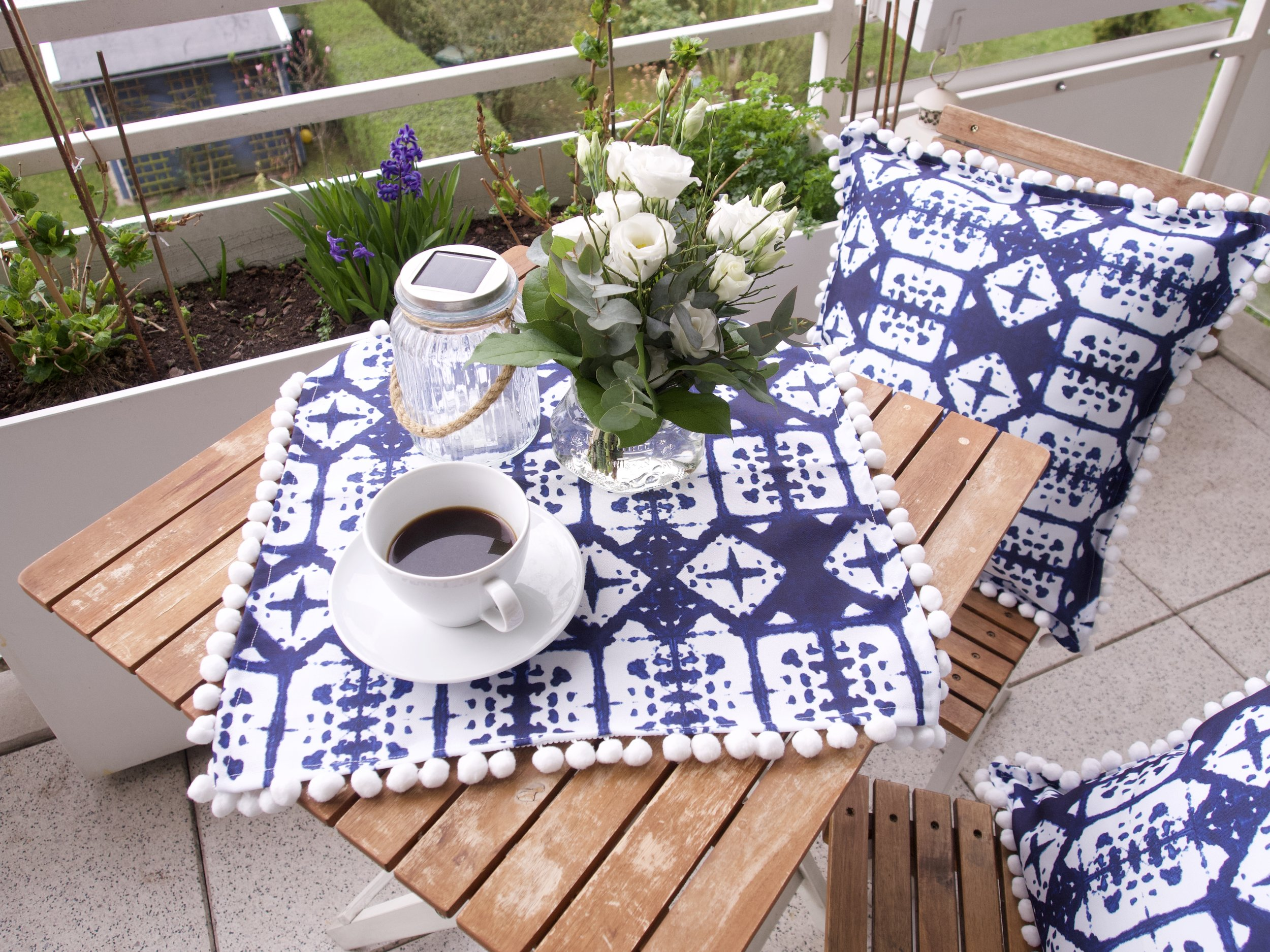 Frühlings Diy Kissen Und Tischdecke Nähen Stoffreise