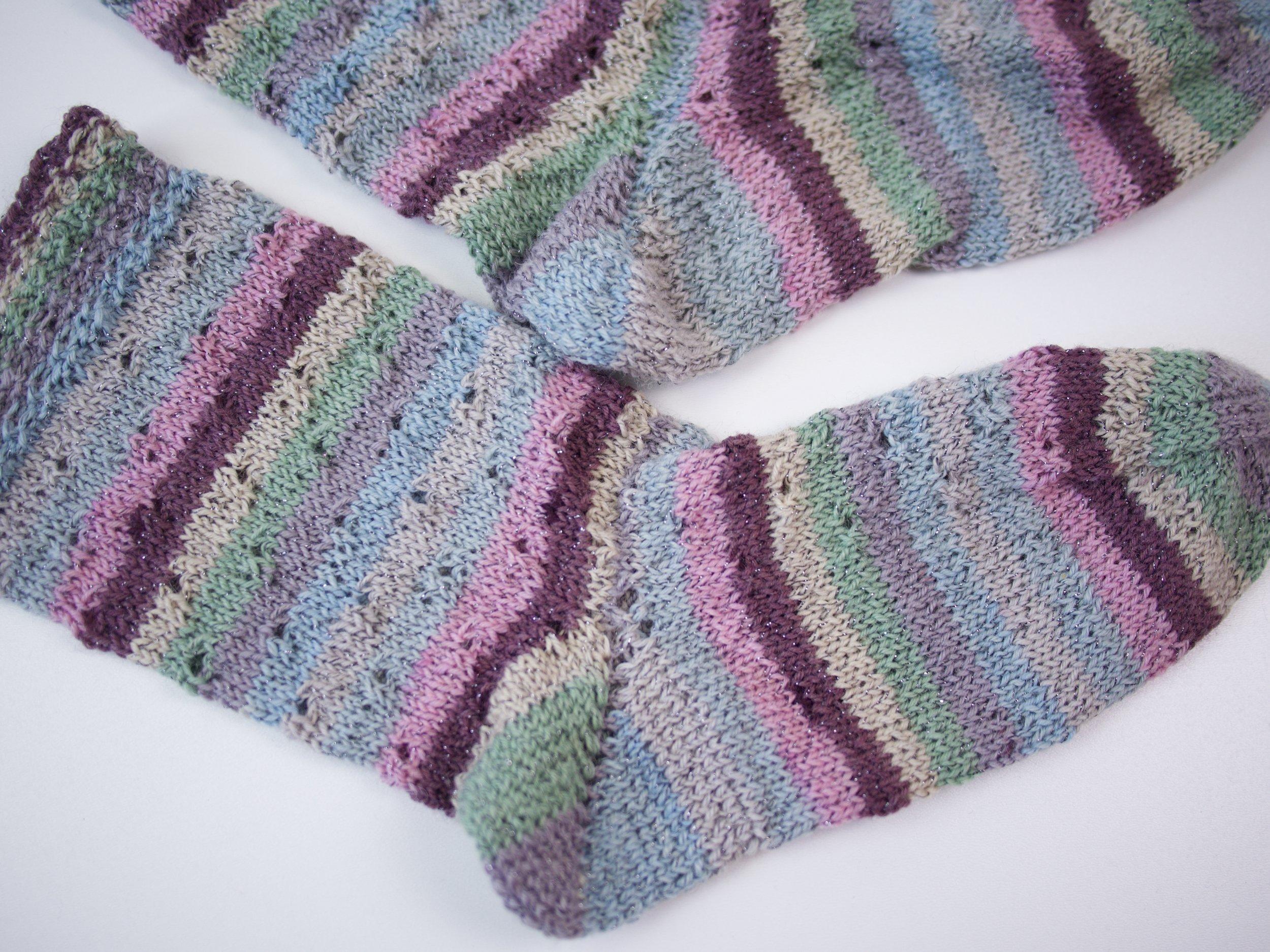 Bumerangferse stricken ohne Löcher