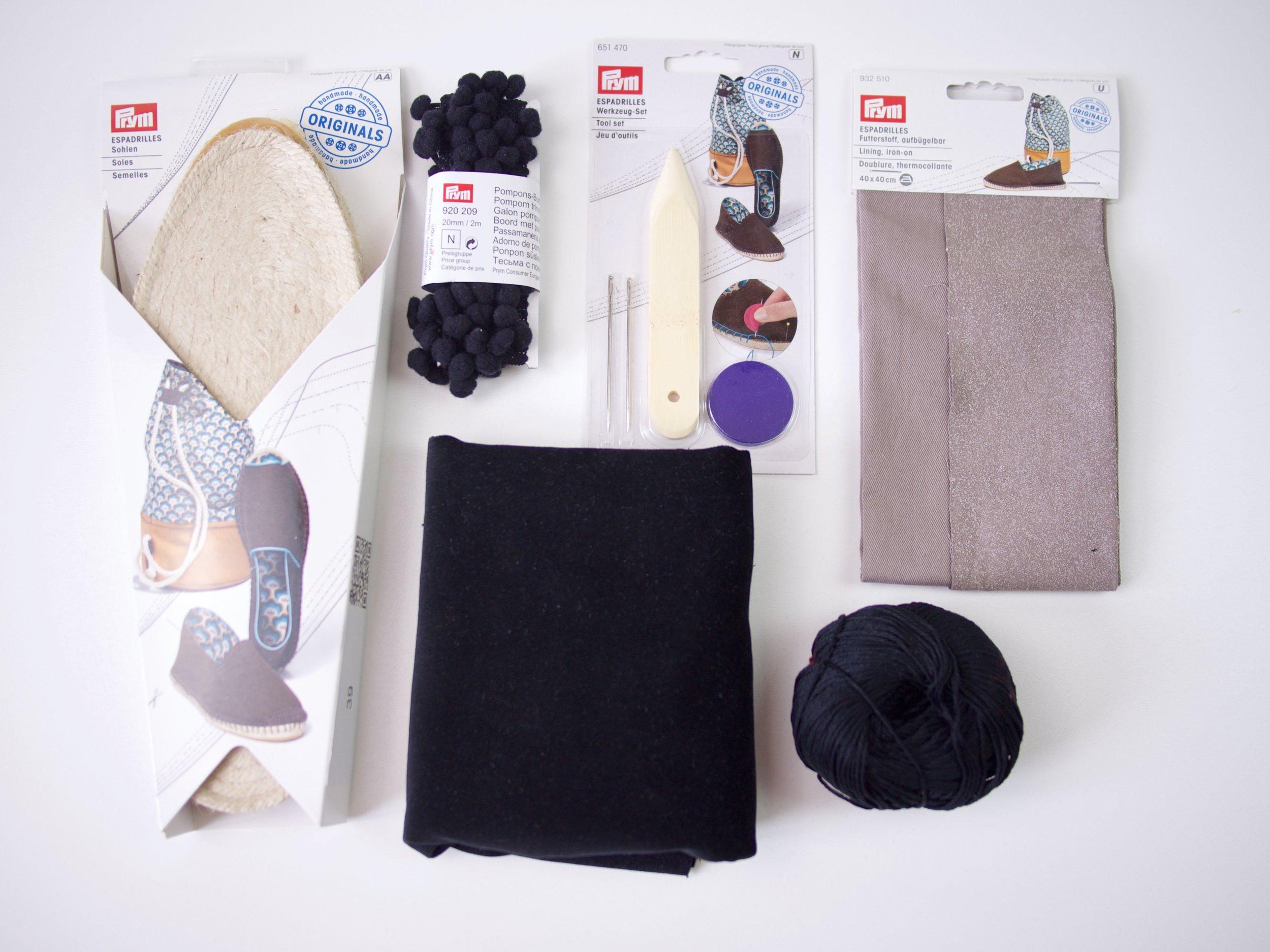 DIY Samt-Schleifenespadrilles/Prym