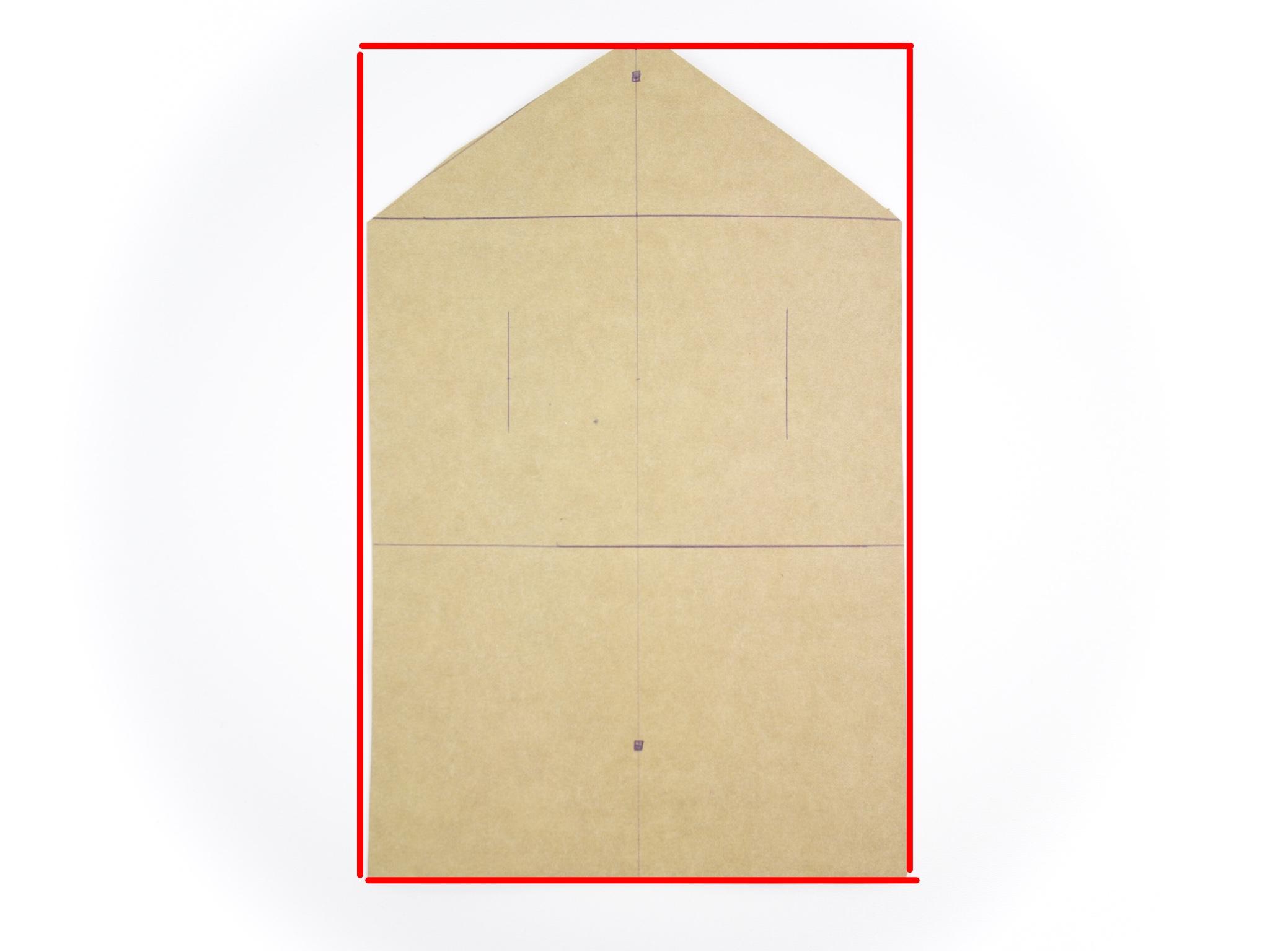 - Zeichnet euch für die Tasche ein Rechteck von 16.5 cm in der Breite und 25cm Länge.