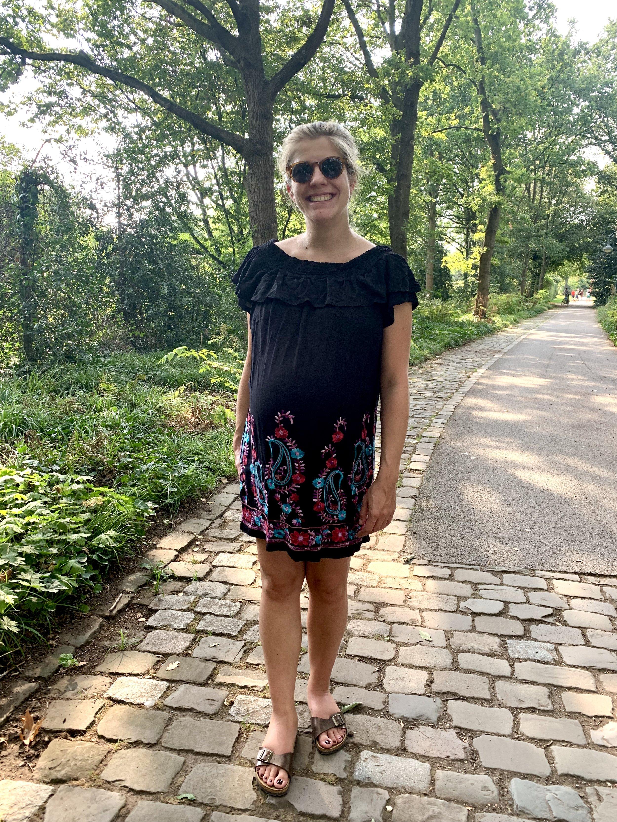 Schwangerschaftskleidung nähen, Off-Shoulder Kleid burda style