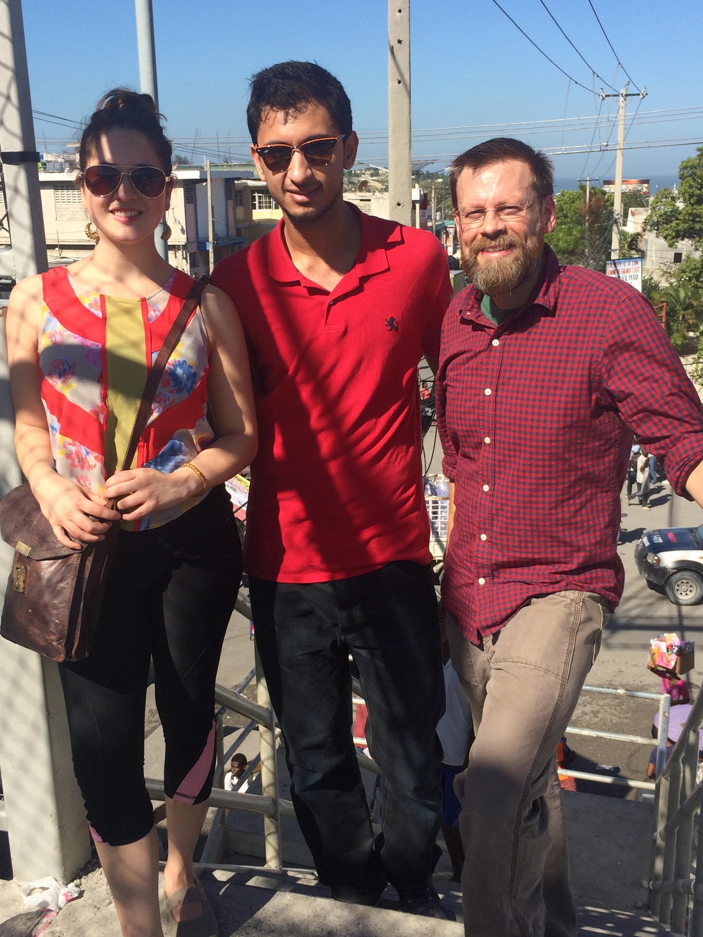 Myself, Rohail, and Daniel on our trip