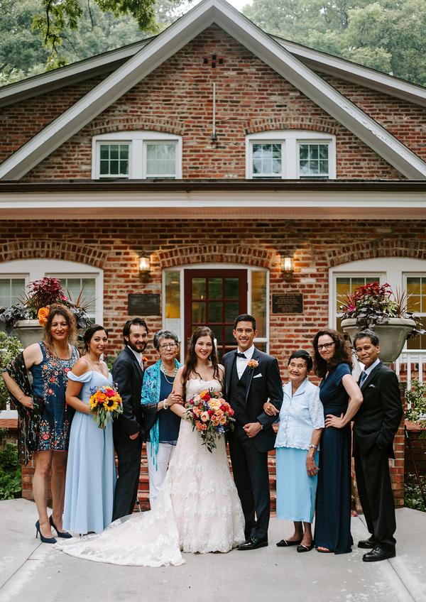 My immediate family + Christian's immediate family