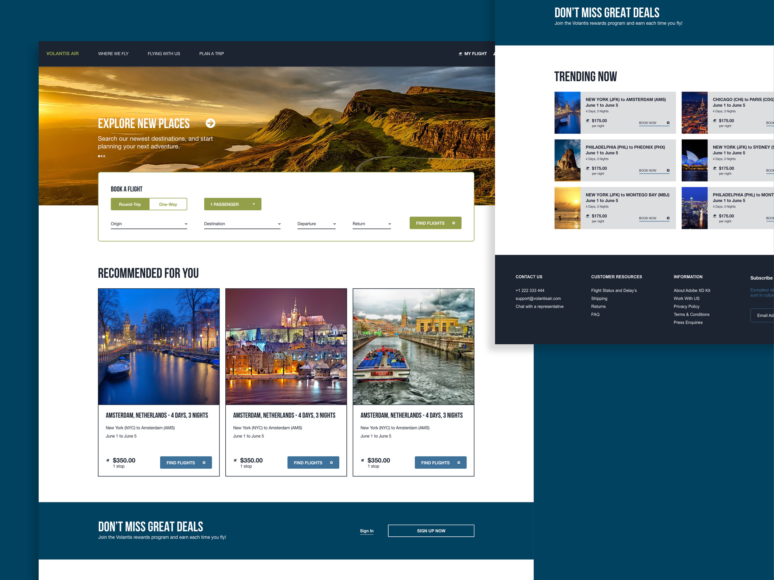 Airline Website