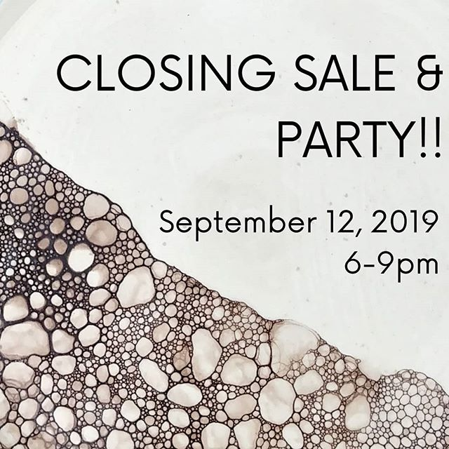 Hello everyone! WE ARE HAVING A PARTY!!! In case you missed last month's announcement we will be closing the education portion of Thrive and moving production back to my home studio. We have loved teaching you and being part of the neighborhood @pepperplacebham There will be good deals, sweet treats, and GREAT company!! Mark your calendars!