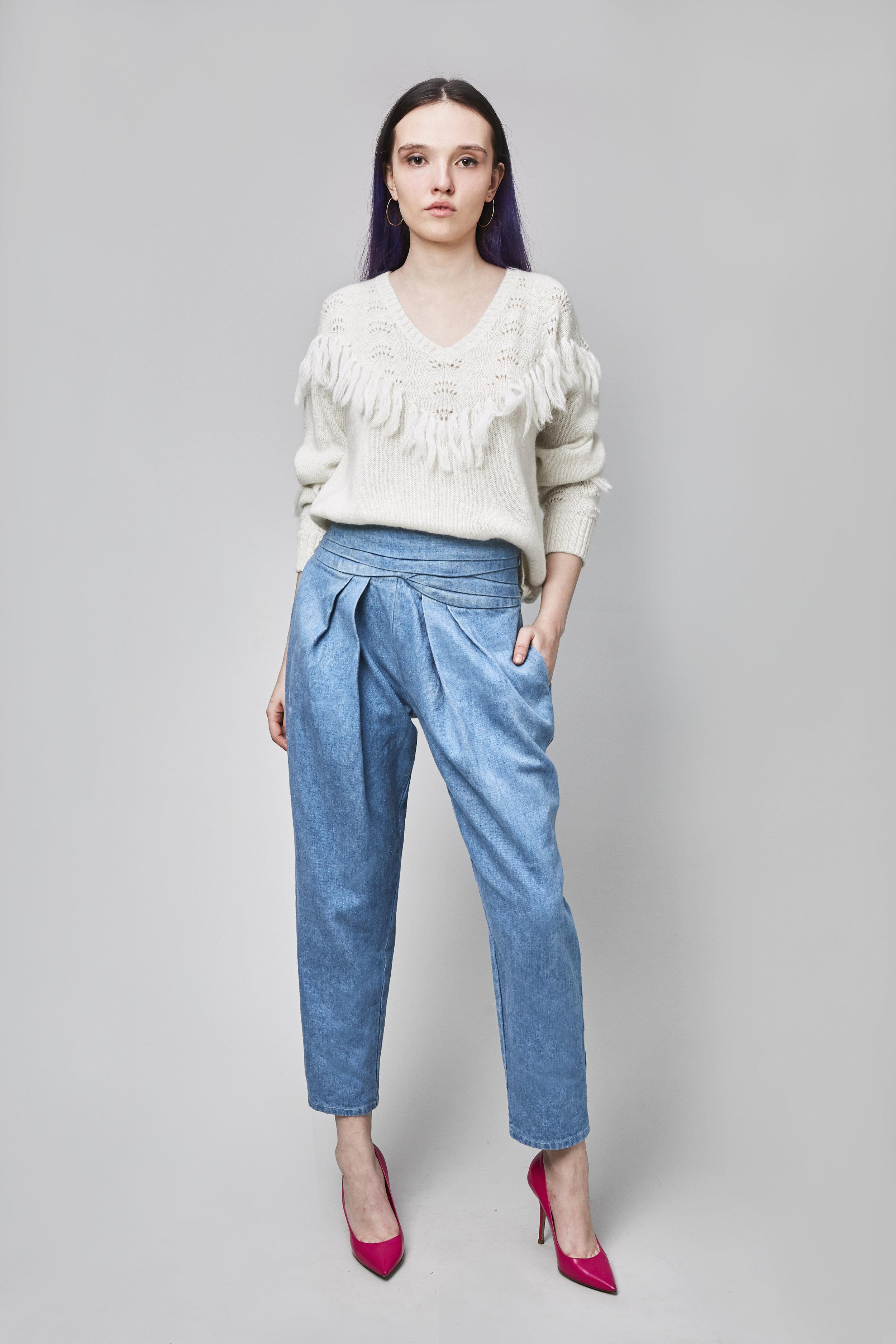 - The Bella SweaterHemp Denim High Waisted Pant