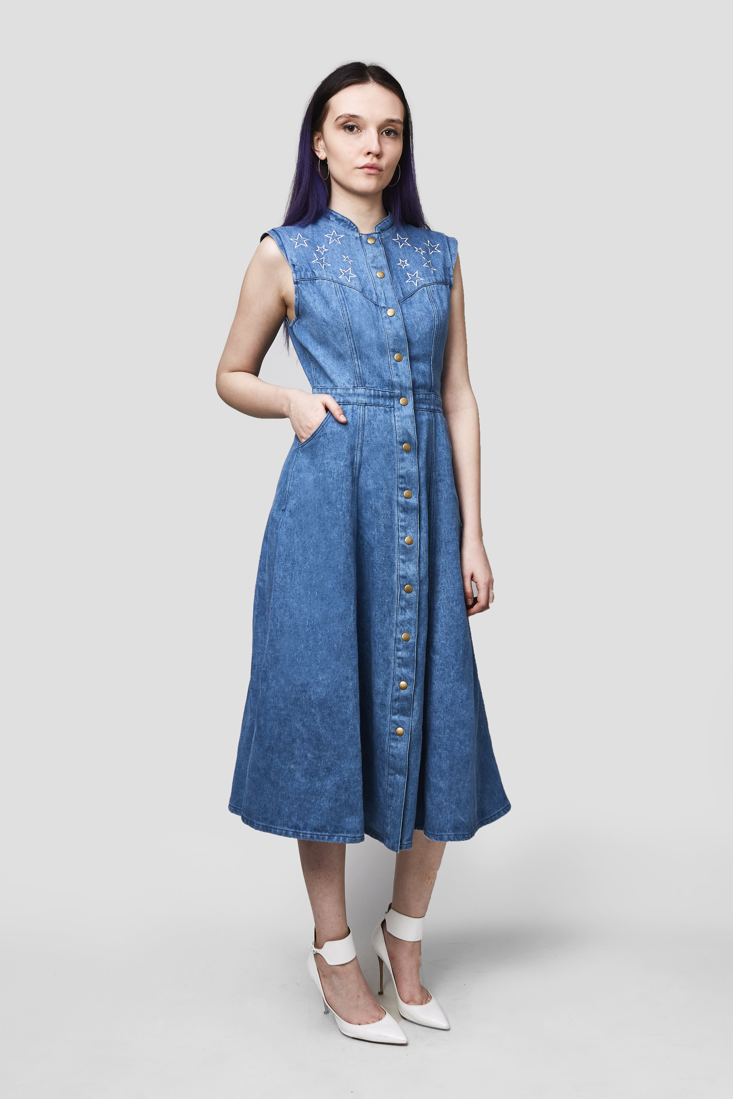 - The Gina Dress in Hemp Denim