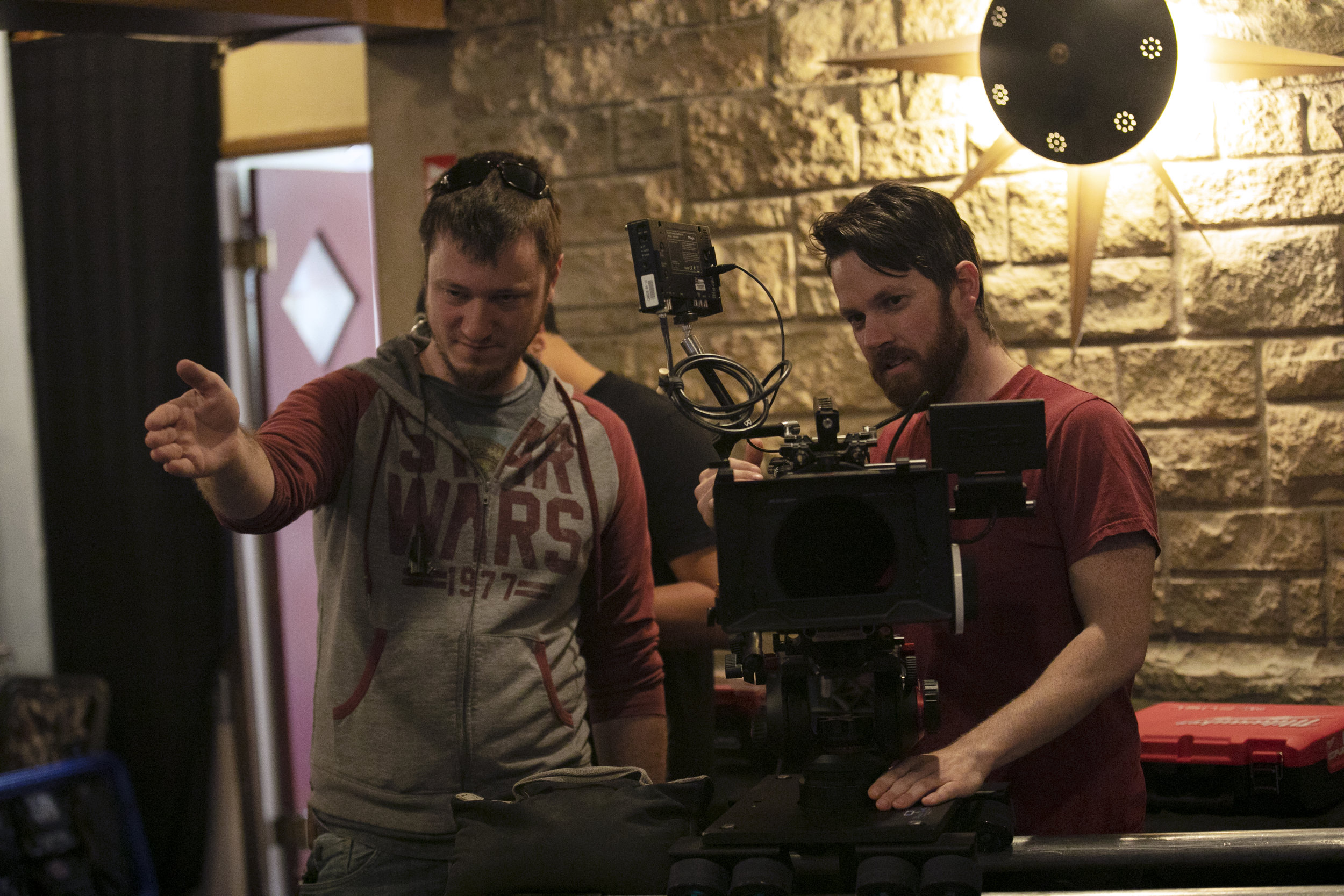 Philip Collins (key grip) and Rick Craft (director of photography)