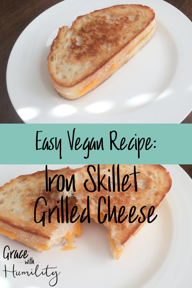 Plant Base Recipe   Iron Skillet Grilled Cheese - www.gracewithhumility.com