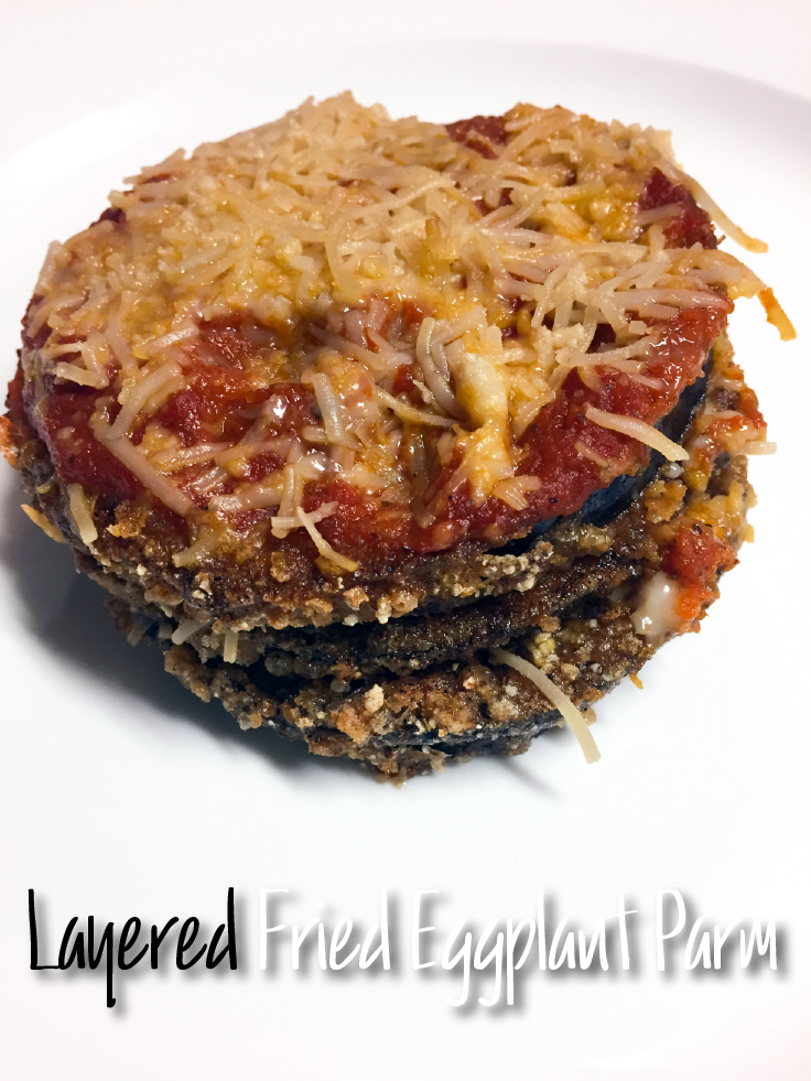 Layered fried eggplant parmesan recipe – www.gracewithhumility.com