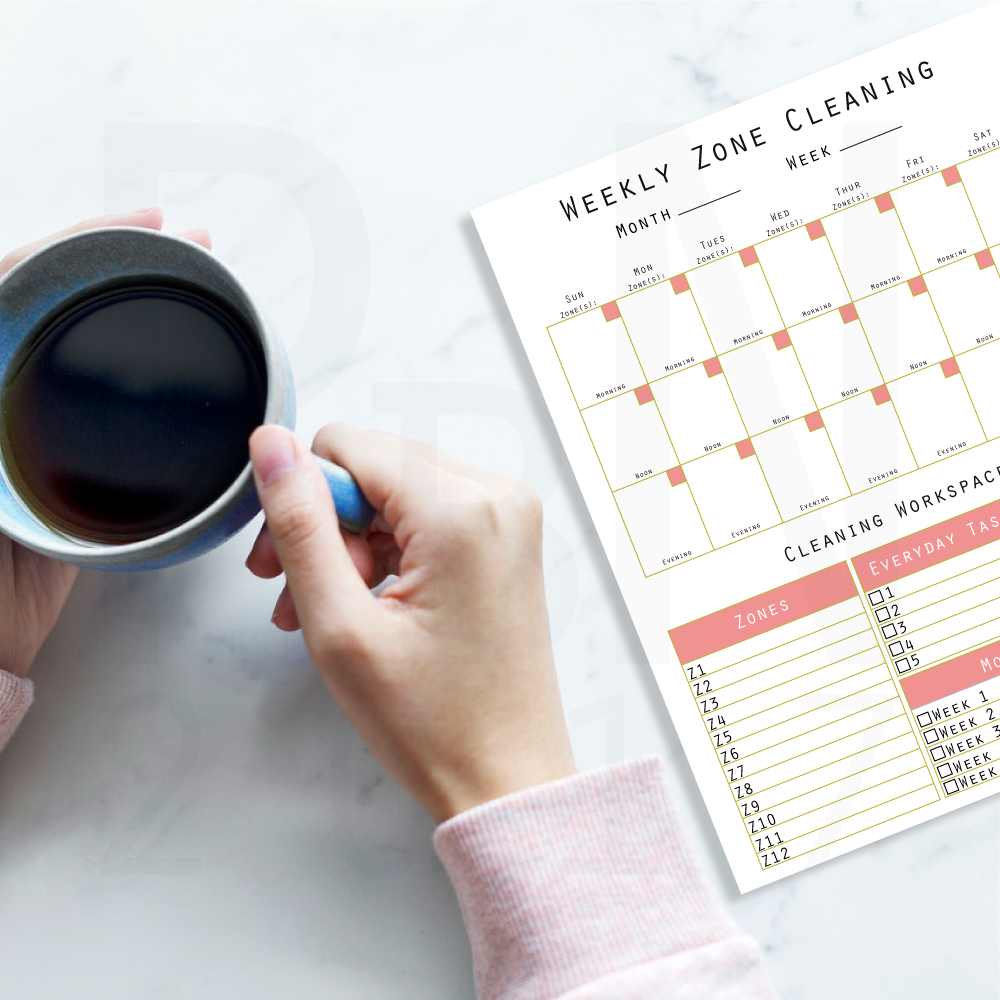 Weekly Zone Cleaning Worksheet available at   printables by nic