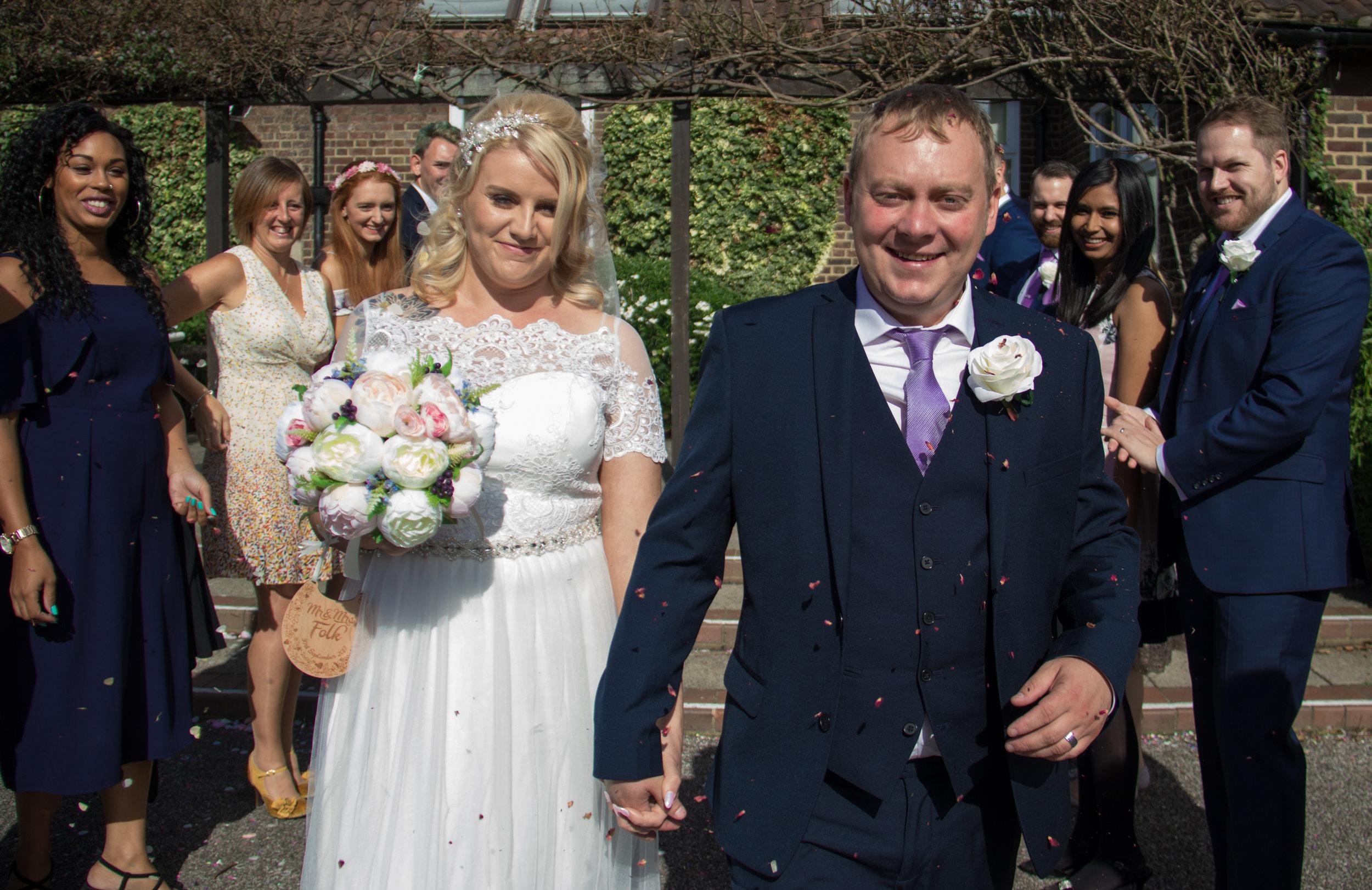 Me on my own wedding day next to my beautiful wife Becca.  Photo taken by: Jason Mitchell  https://www.skylarkphotography.co.uk