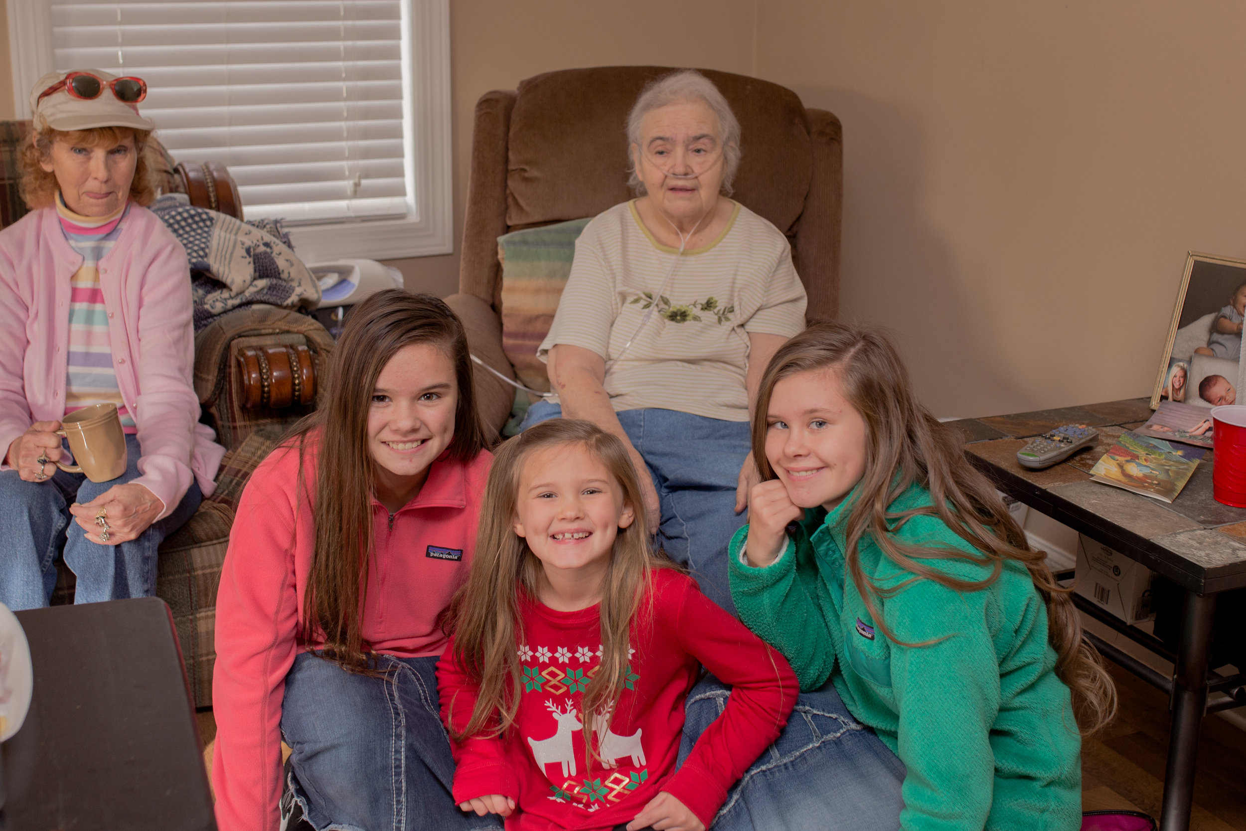 So thankful Nathan's Maw Maw got to be with us this Christmas......She's had a rough year. We love her so much! She's always made sure I could feel how much she loved me and my family! One of the kindest souls you'll ever meet!! We love you so much Maw Maw!!! So thankful my girls get to know her!