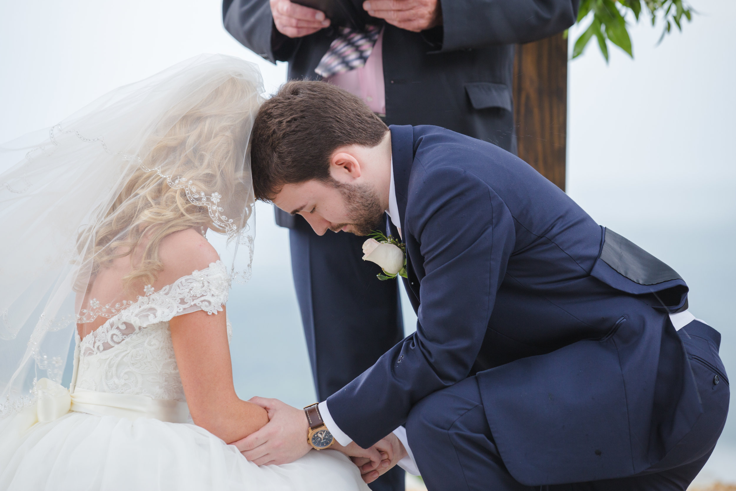 This was such an emotional moment between Audrey & Dylan. I loved the way they knelt as the minister said the prayer. It was one of their favorite pictures from the day, as well as mine!!!