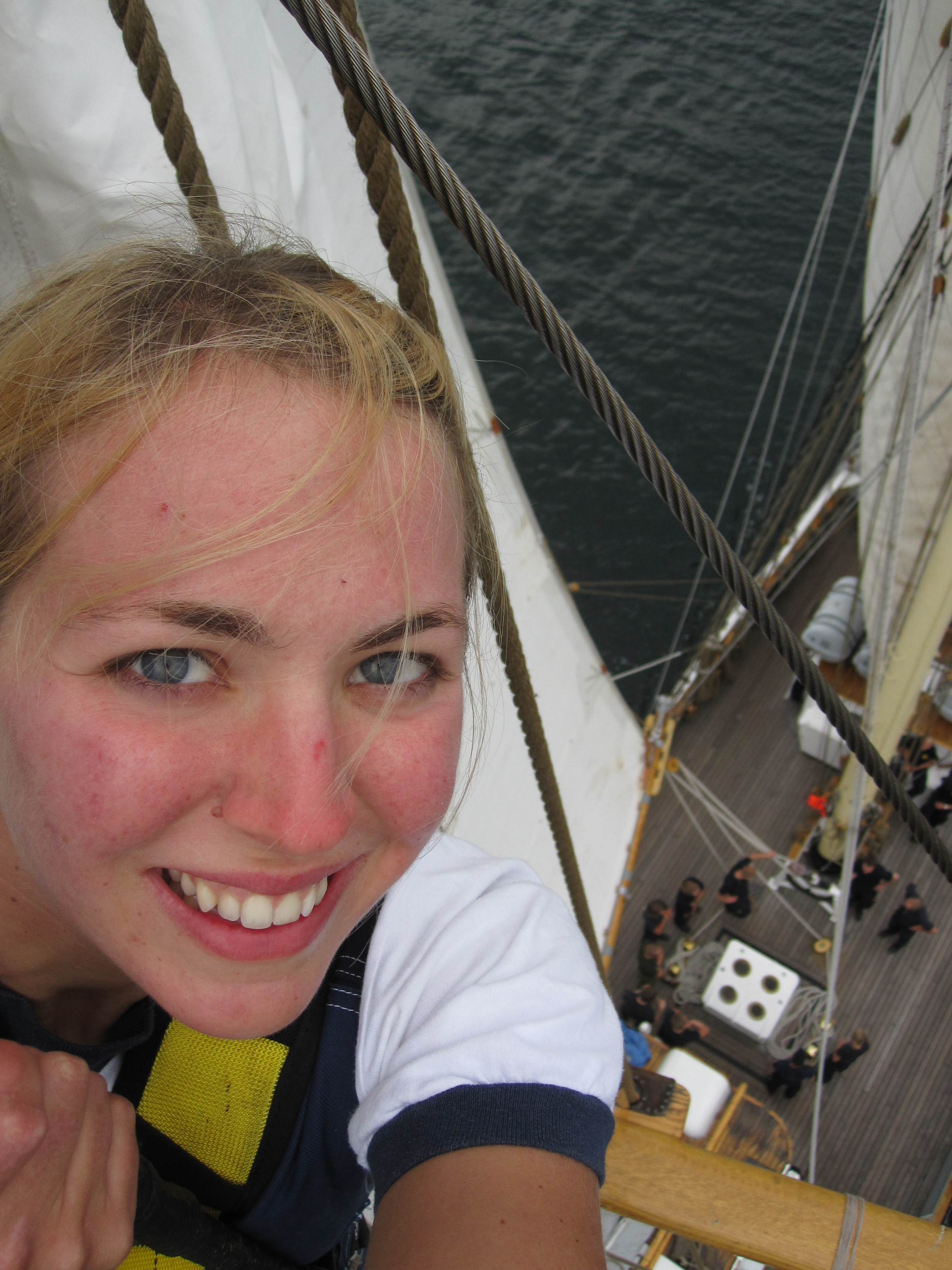 One of the cooler opportunities I was blessed to take part in. Responding to the right email at the right time, a month later I found myself on top of the mast of a Swedish tallship.