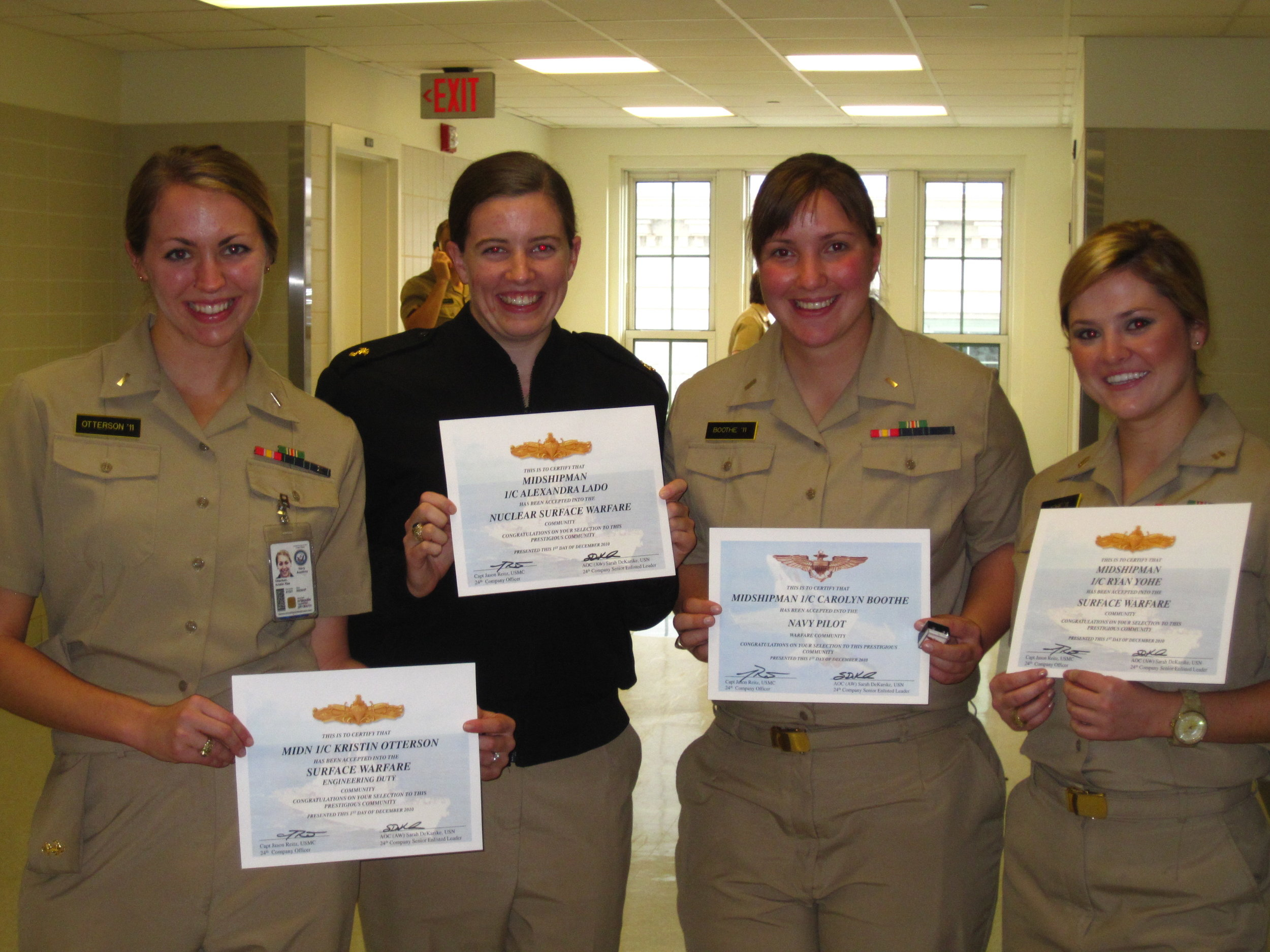 Just a few of the girls of 24th company on Service Selection day.