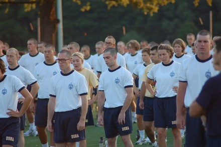 Probably my favorite photo ever. This had to be the first week of plebe summer (I didn't have my glasses yet) and that about sums up how I felt most of the time!