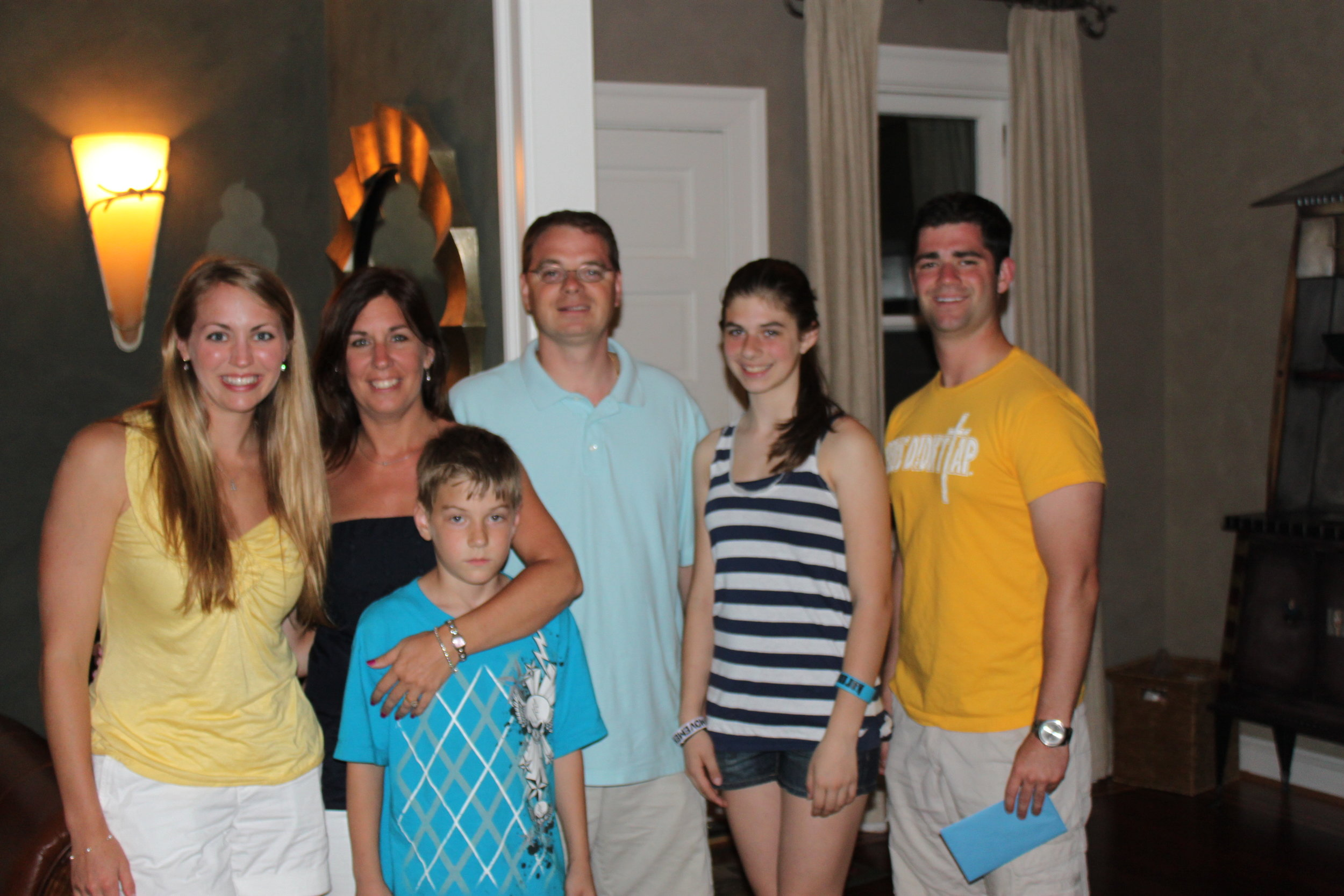 I wish I had a photo of the entire family, but these are just a few of the wonderful people who took Caleb and I in!!