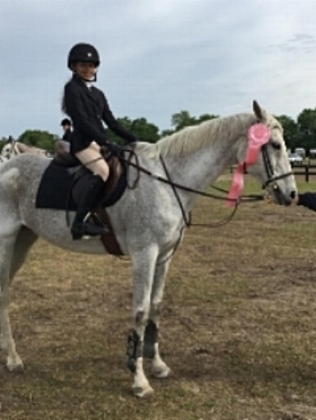 Raina and Nitrous placing 5th after her first 1.00m classic in Aiken South Carolina!