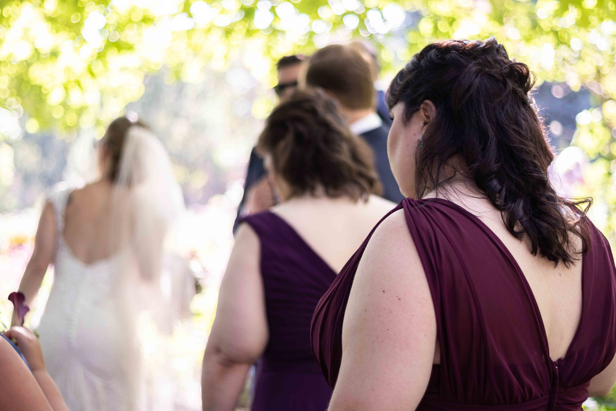 Bride and Bridesmaids at the Ceremony