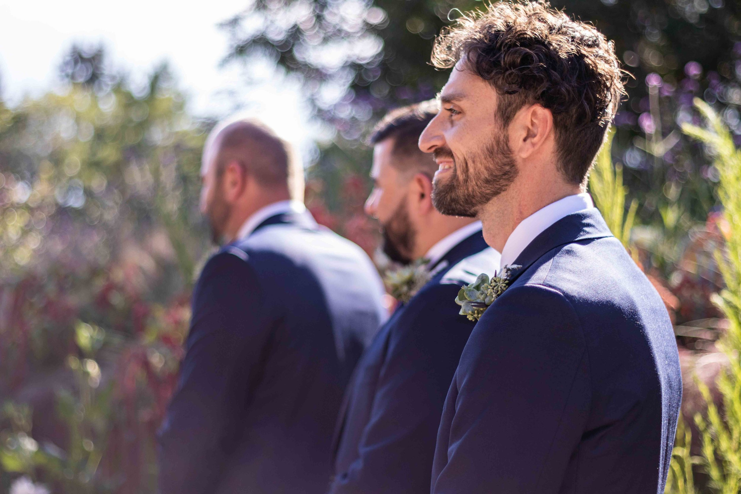 Groomsmen waiting for The Bride