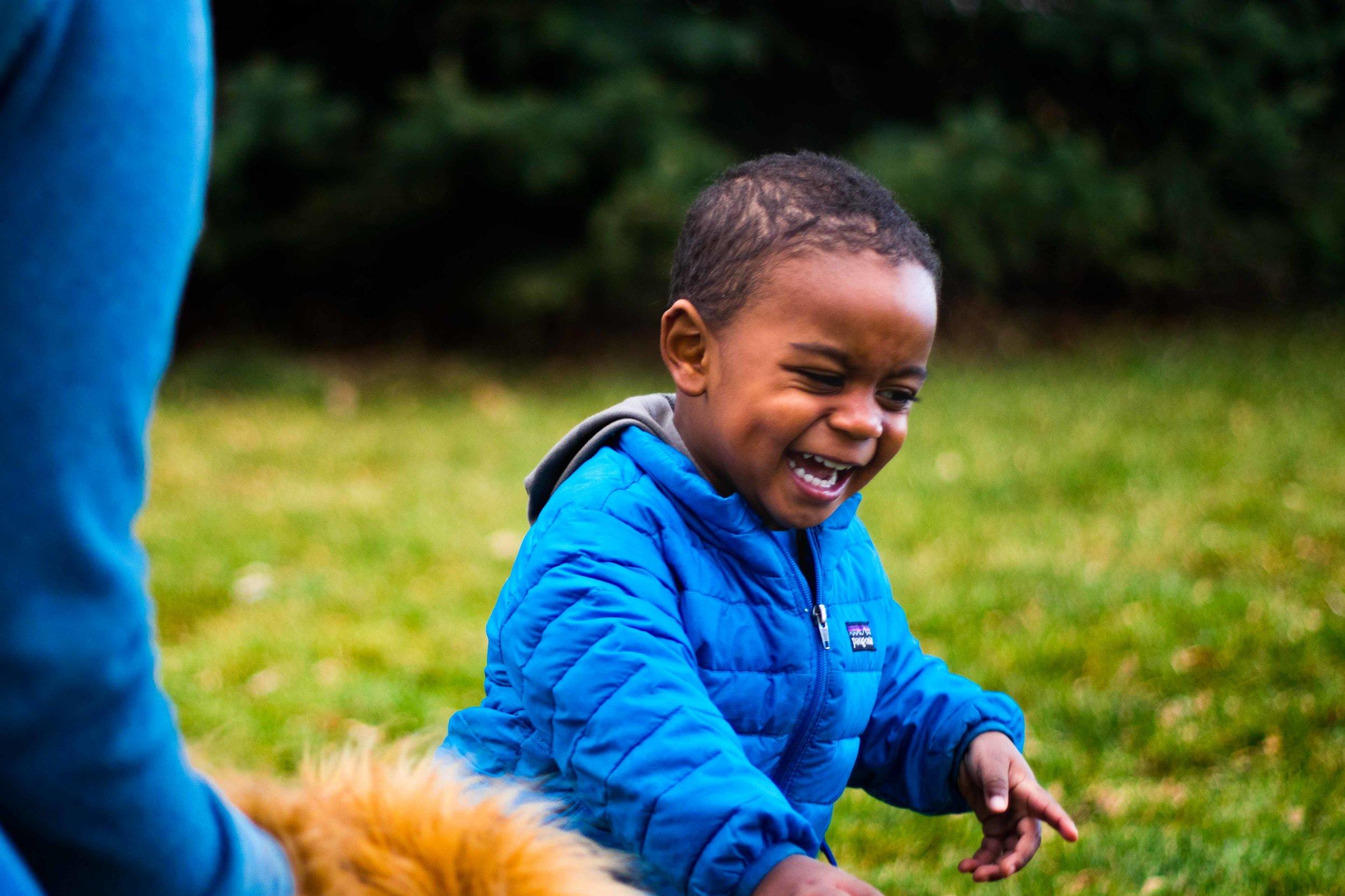 A Little Boy Laughing