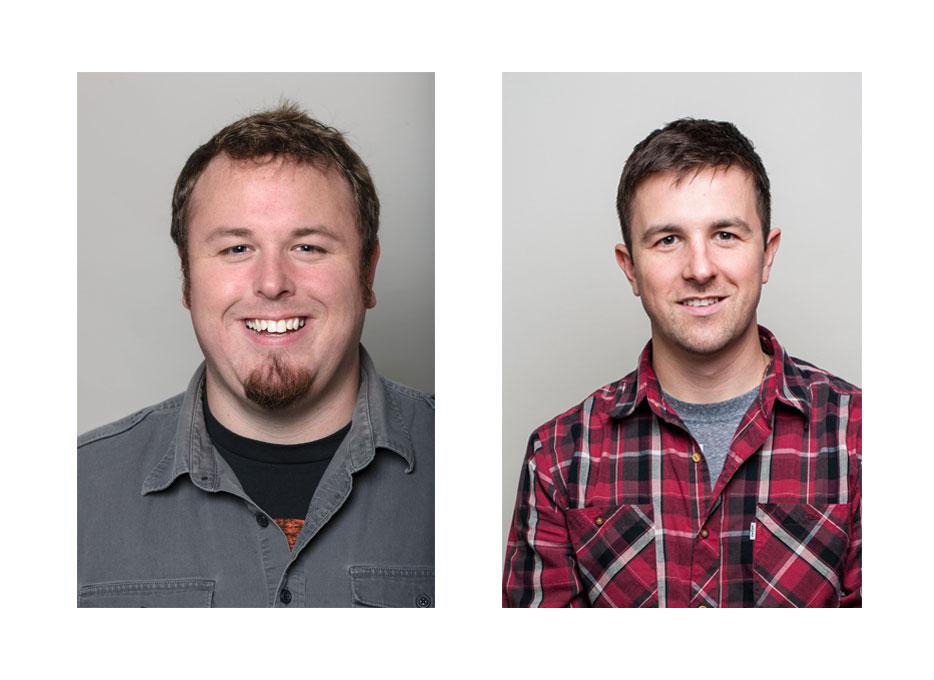 Muntz Studios - Brothers; Brian Muntz (left), Greg Muntz (right)