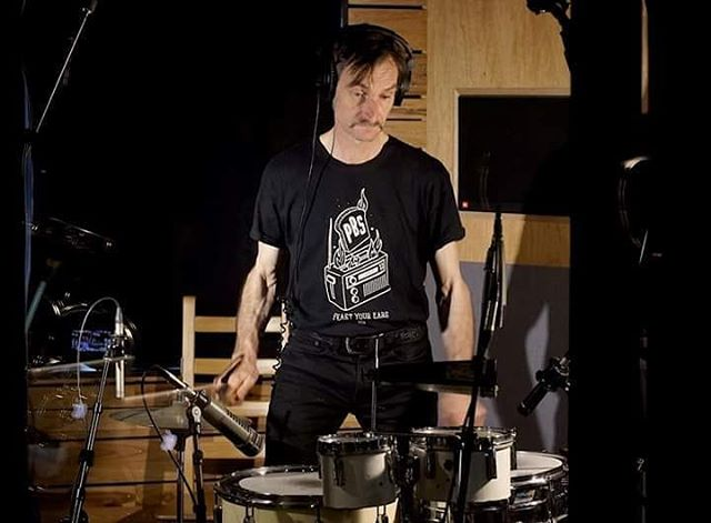 Gavin Gray in the studio...we're recording! . . . #oxocubans #wefo #wefostudios #studiosession #newtunes #drums