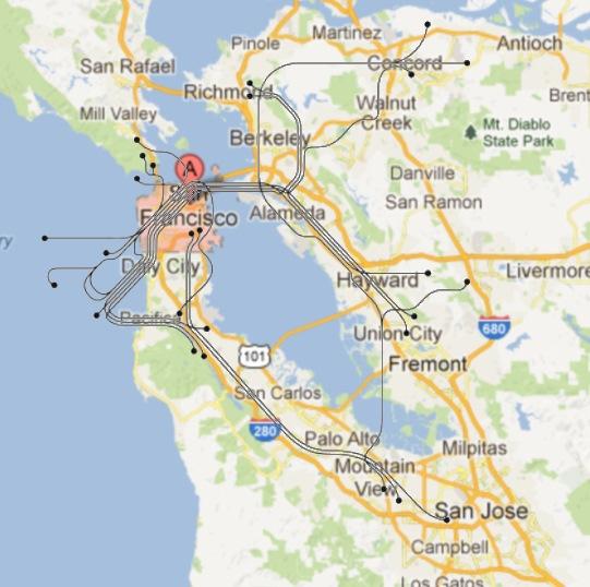 San Francisco - map + transit map