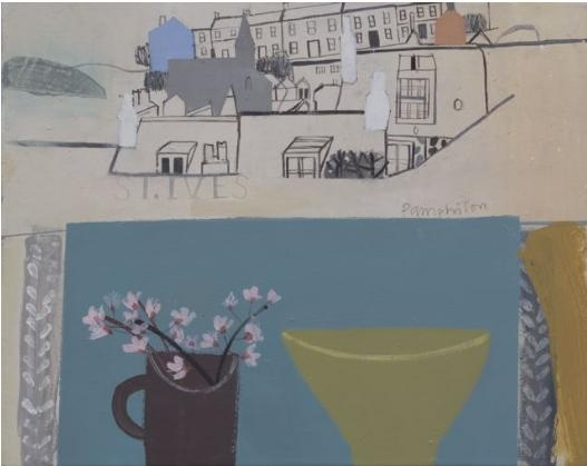 Elaine Pamphilon - Lime Green Conran Bowl, and Cherry Blossom St. Ives
