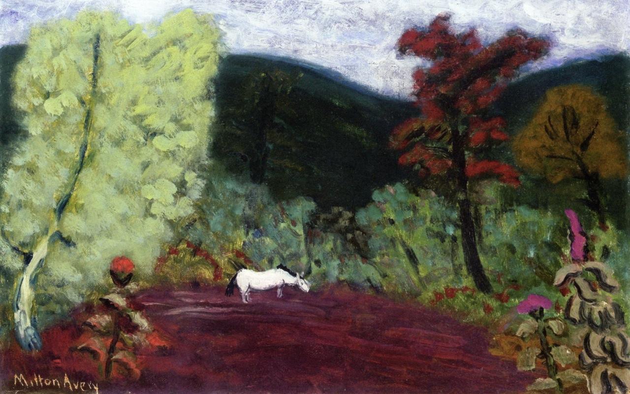 Milton Avery -Horse in a Landscape, circa 1941