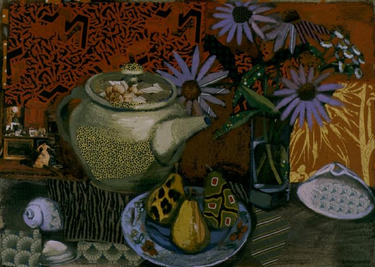 Lise Carruthers - Orange Purple Coneflowers