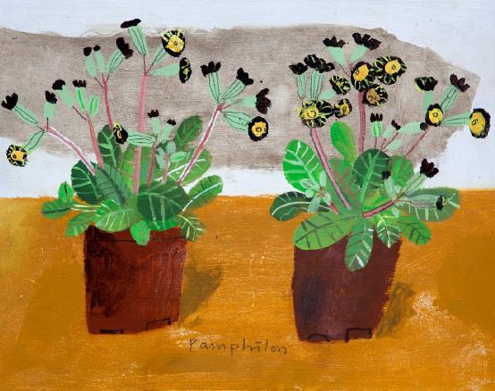 Elaine Pamphilon - Two Primulas from Richard's Shop