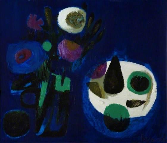 Mary Fedden - Blue Still Life