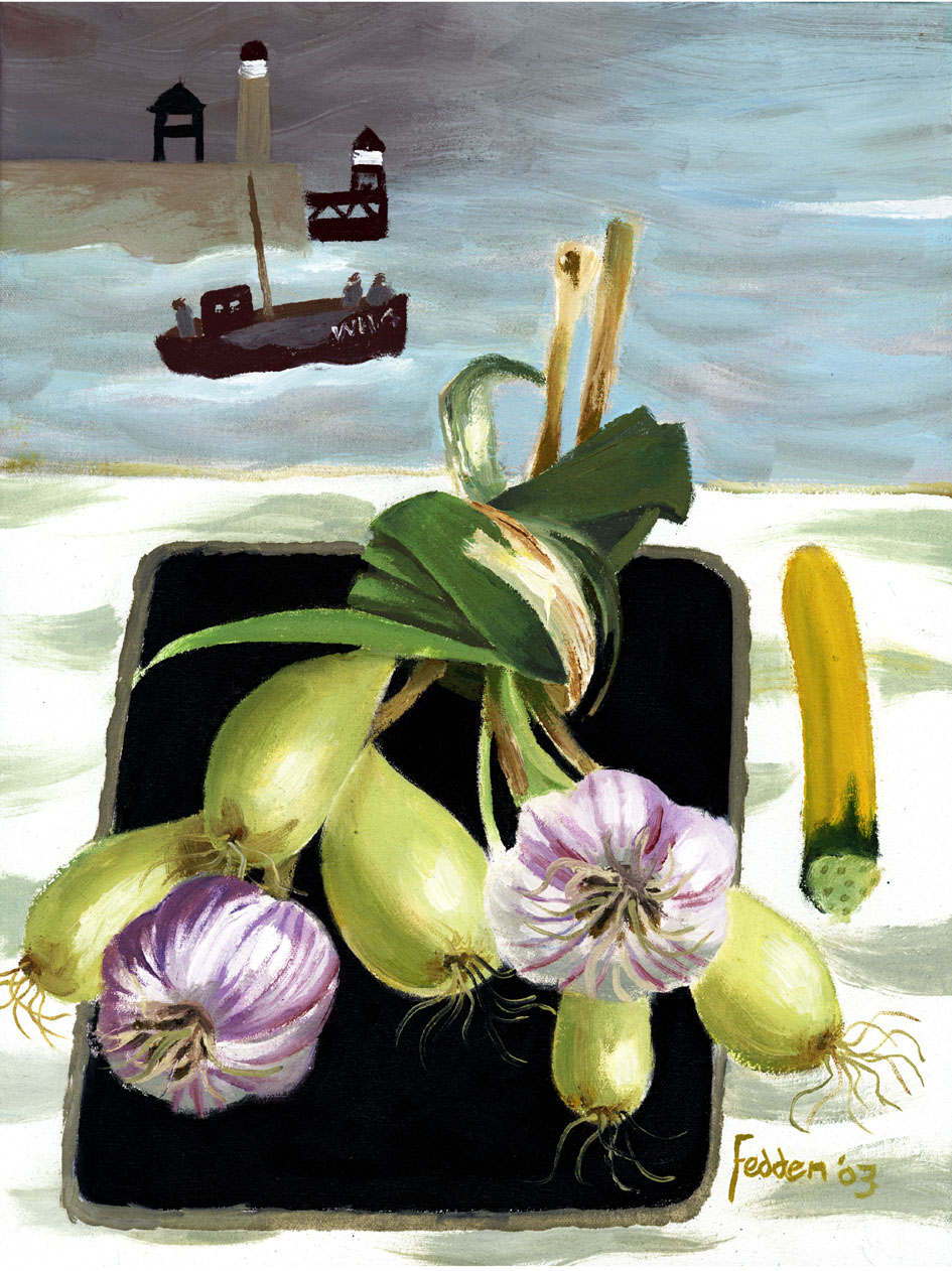 Mary Fedden - Whitby Harbour