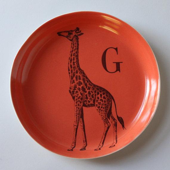 Asya Palatova - Giraffe plate