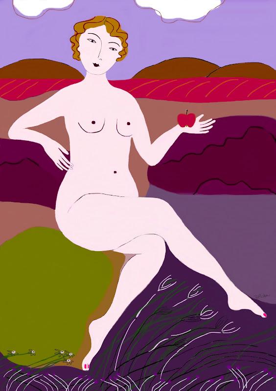 Barbara Perrine Chu - Lady and the Apple