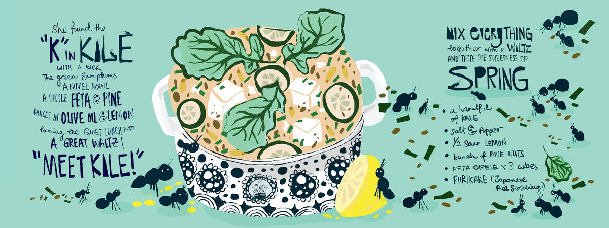 They Draw & Cook - Meet Kale by Ly Yeow ( source )