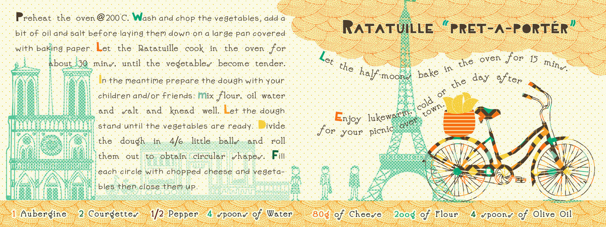 They Draw & Cook - Ratatuille Pret a Portér by Gianna Grassi ( source )