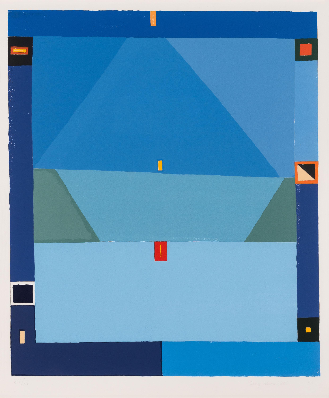 mapart.me:   Jerzy Nowosielski - Bez tytułu (abstrakcja niebieska)