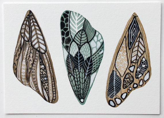mapart.me:   Marisa Redondo - Wings Painting - Butterfly, Moth